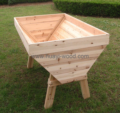Natural Cedar Raised Garden Tables Herb Planting Trough Design 48inch
