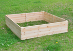 wooden planting beds