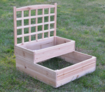 tiered gardening beds