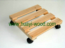 wooden plant dolly