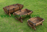 half barrow garden planter boxes