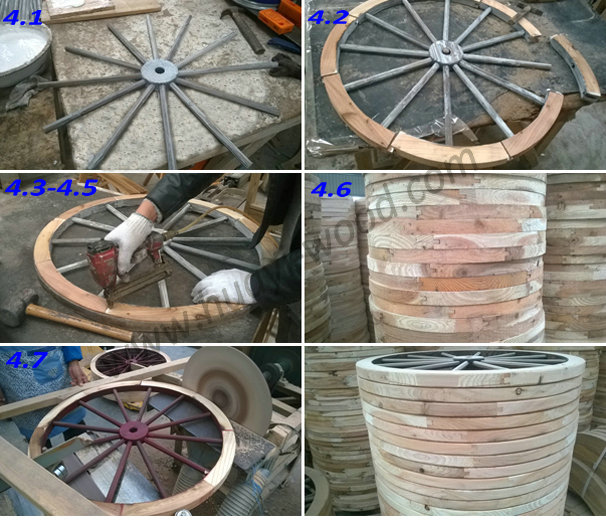 handcrafted wooden wheels
